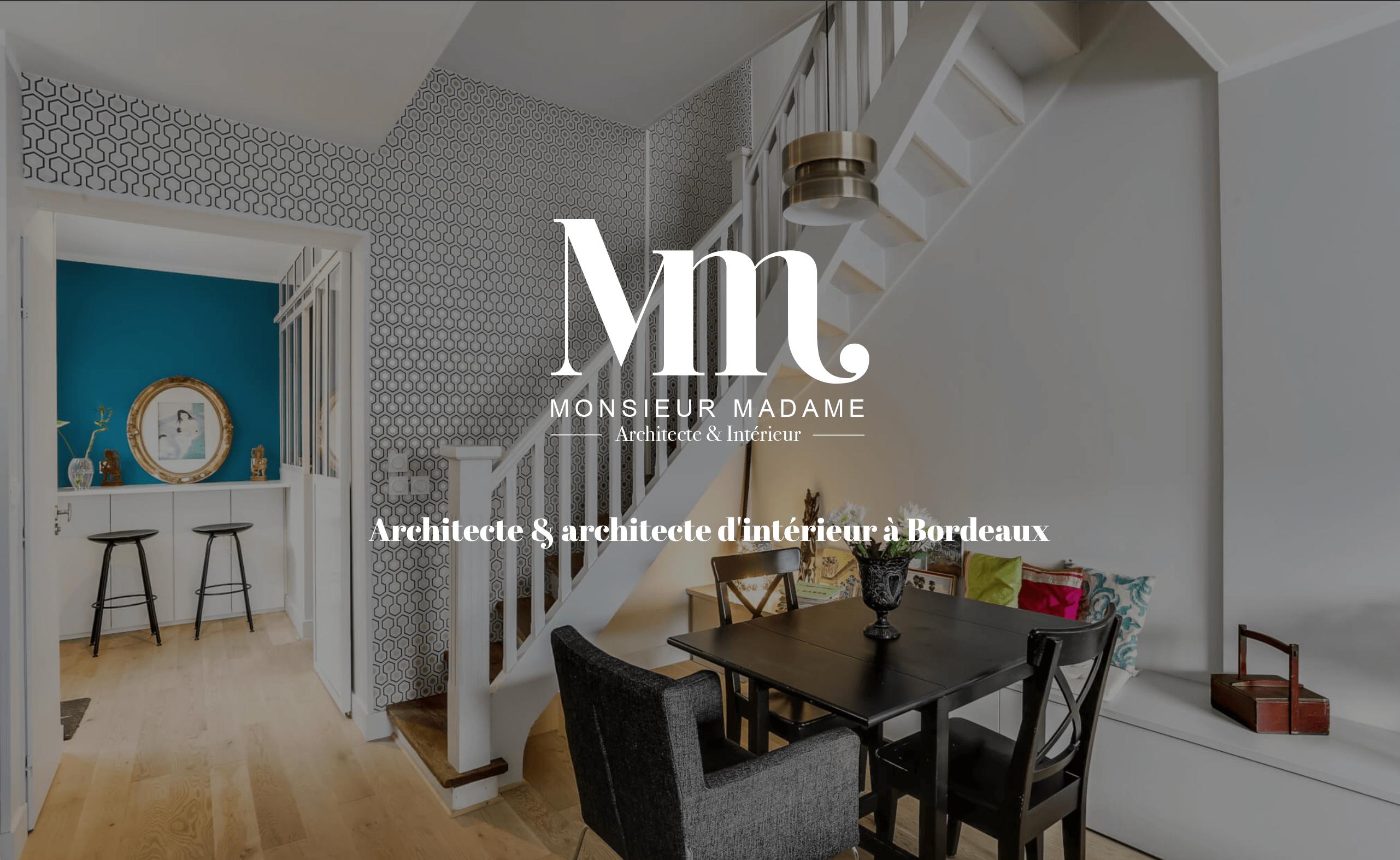 Architecte Interieur Bordeaux agence monsieur madame : architecte & architecte d'intérieur